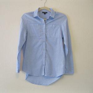 TOPSHOP Denim Chambray Tailored Shirt